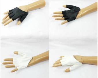 Fingerless Driving Gloves Black or White