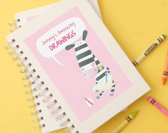 Personalised Girl's Animal Sketchbook (3 designs available)