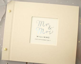 Personalised Mr And Mrs Wedding Photo Album