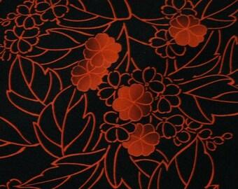 Vintage Japanese Silk Kimono Fabric Chic Blossom