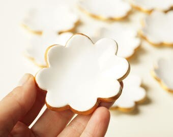 10x Wedding Favors, White Ceramic Cloud , 10 pieces, Guest Favors, Ceramics and Pottery