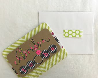 """Handcrafted """"Bride To Be"""" card"""