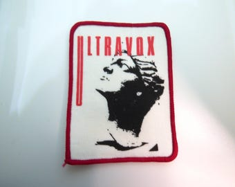 Vintage 80s Ultravox Deadstock / Never Worn Sew On Embroidered Patch
