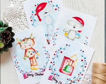 PLUSHmas Greeting Cards (digital product) - ENG