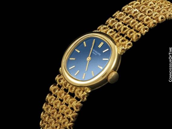 1973 Patek Philippe Ladies Vintage Bracelet Watch Ref. 4188/2, 18K Gold - Original Certificate