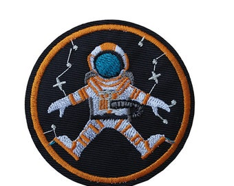 Astronaut Iron on / sew on Embroidery Patch Badge Embroidered Space explorer Applique Nasa Motif