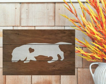 Bloodhound silhouette Wood Sign, Bloodhound Painted Sign, Hound dog pallet sign, Bloodhound gift, I love My Hound Dog, Hunting dog sign