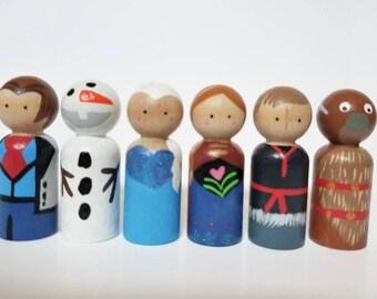 Norwegian Princess Peg Dolls