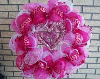 Spring Wreath, Deco Mesh Wreath, Mothers Day Wreath