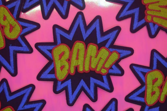 Bam Onomatopoeia Iron on Patch