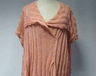 The hot price. Light pink linen blouse, XL size.