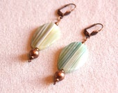 Green agate and copper me...