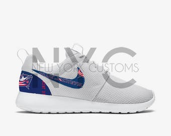 Columbus Bluejackets Nike Roshe One Custom Men Women & Kids