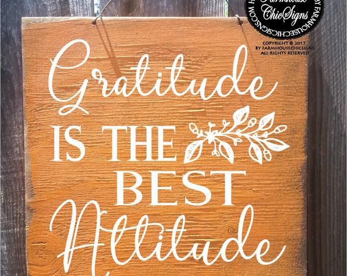 gratitude sign, gratitude, grateful sign, thanksgiving decor, fall decor, fall signs, fall decorations, fall door sign, fall wreath sign