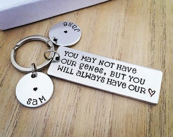 Gifts for Step Mom, Step Mum, Mothers Day Gift, Hand Stamped, Keyring, Step Mom, Wedding Gift, Keychain, Step Mum Gift, Personalised Keyring