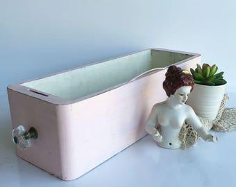 Sewing Machine Drawer - Pink Decor - Christmas Gift - Wedding Centerpiece - Drawer Organizer - Beach House Decor -  Gift Under 25 - Storage