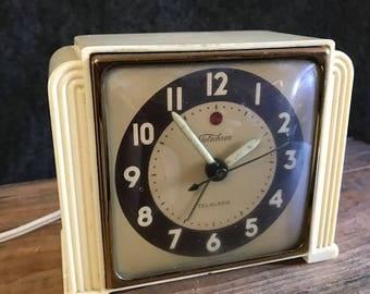 Vintage Telechron Telalarm electric clock