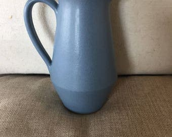 Vintage Denby Blue Echo creamer - Made in England - Mid Century modern - Stoneware pottery