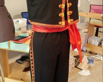 Custom men's Spanish ballet costume