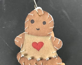 Small Gingerbread Ornament 1 2017
