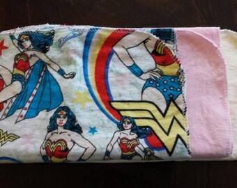 Wonder Woman Burp Cloth Set