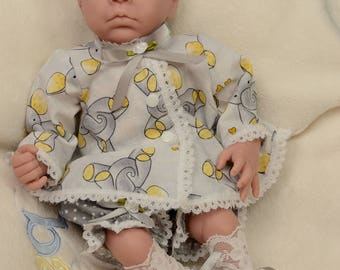 14-16 inch micro preemie 5pc. outfit for  girl reborn baby dolls