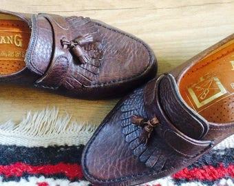 Mocassins  vintage mocassins  Avang Shoes  vintage shoes 6.5  vintage shoes 38  vintage shoes 7.5 us  vintage leather mocassins 38