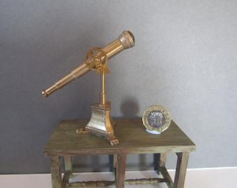Fantasy telescope (no. 2) hand made by KastleKelm Miniatures