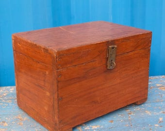 Antique Indian Wooden Jewellery Box