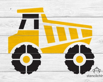 DIY Art Stencil - Dump Truck Construction Stencil