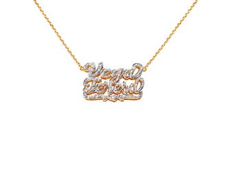NP22cz-10k Gold Fabulous Cubic Zirconia Name Necklace