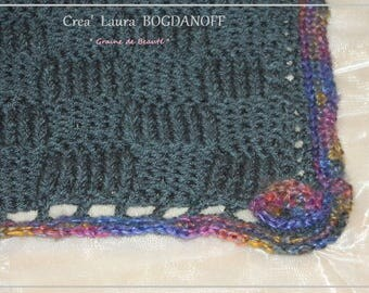 knitted Plaid baby blanket. Unique, creating Madame Bo