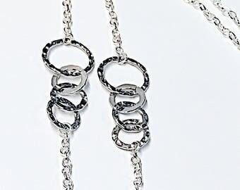 Silver EyeGlasses Chain - EyeGlasses chain strap-Silver Rings Eyewear-Sunglasses Chain strap-Reading glasses Chain-gift for her