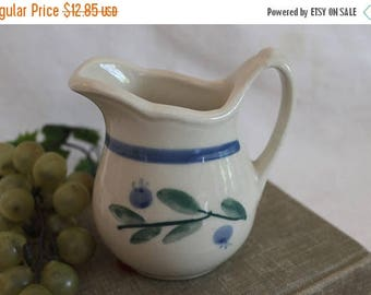 SALE Hartstone Pottery Creamer Pitcher - Wild Blueberry Pattern