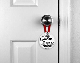 Birthday Door Hanger, Personalized Door Hanger, Nameplates, Personalized Hanger  (0083)