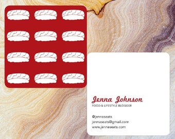 Customizable Square Sushi Business Card with Round Corners | Moo.com Compatible