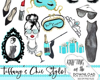 watercolor breakfast at tiffany png clipart watercolor tiffany's clip art set watercolor fashion teal black clipart watercolor tiffanys png