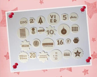 Advent Calendar Numbers-stamped