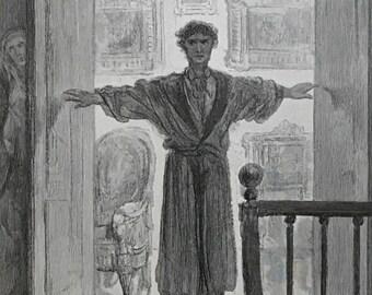 1884 The Raven By Edgar Allen Poe Original Gustave Dore #DorePoe1