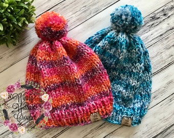Childrens Knitted Beanies