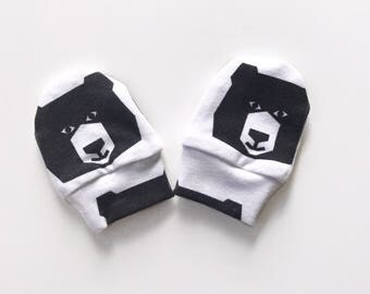 Baby Mittens, Mittens, Newborn Mittens, Baby Gloves - Geo Bears / IN STOCK