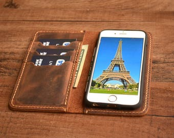 iPhone 8, iPhone 8 PLUS, iPhone X, iPhone 10 iPhone Wallet, Leather iPhone Case, iPhone Case, Distressed Leather Case, iPhone cover