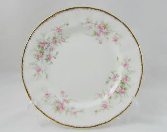 "Royal Albert ""Victoriana Rose"" Salad Plate, Luncheon Plate, 8 Inches, Vintage Royal Albert"