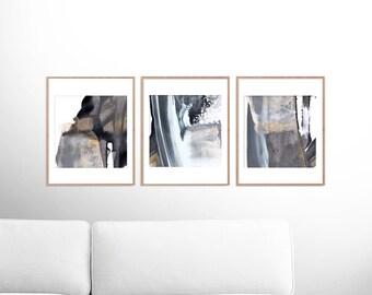 Abstract Art Print Set, Set of 3 Prints, digital download art, Printable Abstract, instant download art 8x8 Prints, Dan Hobday, Art set of 3