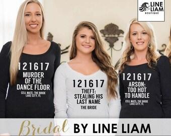 ENDS AT 12AM ciminal shirts, bridesmaid shirts, long sleeve bridesmaid shirt, bride sweatshirt,long sleeve shirt, bridesmaid shirts, bridesm