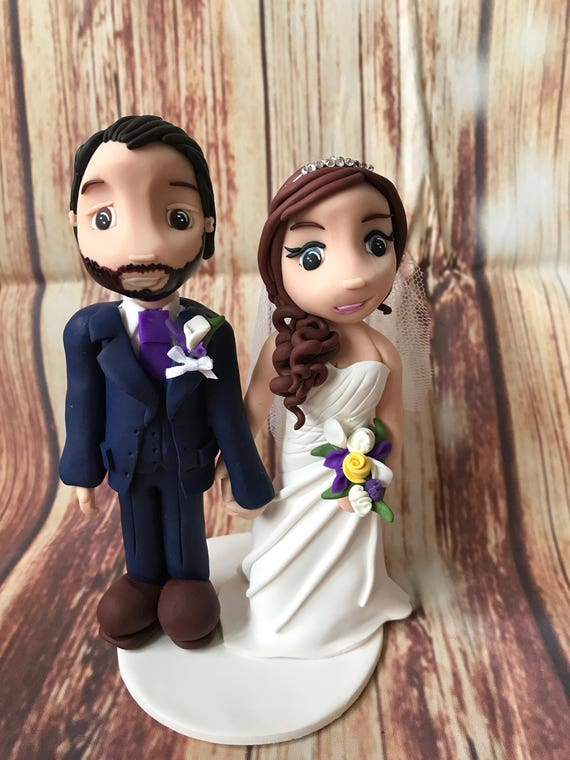 Fully personalised clay Wedding Cake Topper highly detailed and fully sculpted Keepsake - Bespoke Premium Service
