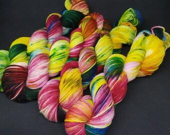 Merino mini 50gr. Hand dyed hand dyed yarn