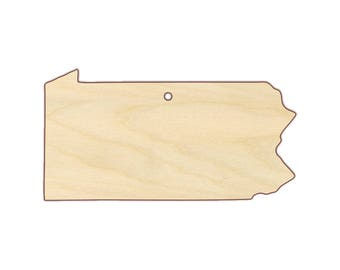Pennsylvania Ornament Blank - Christmas Ornament - Unfinished wood