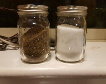 mason jar salt and pepper shakers clear shakers gift wedding gift