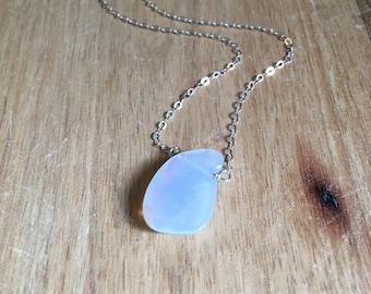 Opal Necklace - Opal - Opal Jewelry - Australian Opal Necklace - Silver Opal Necklace